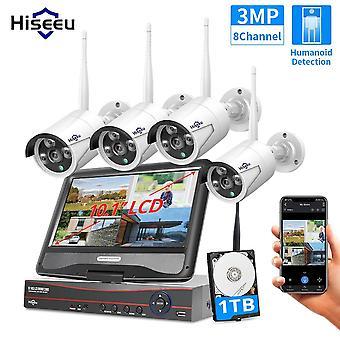 8ch 3mp Drahtlose Überwachungskamera Cctv Kit