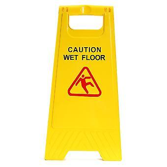 זהירות שלט בטיחות מתקפל ברצפה רטובה