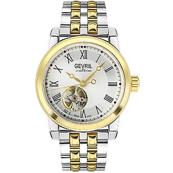 Gevril Madison Automatic Silver Dial Two-tone Men's Watch 2586