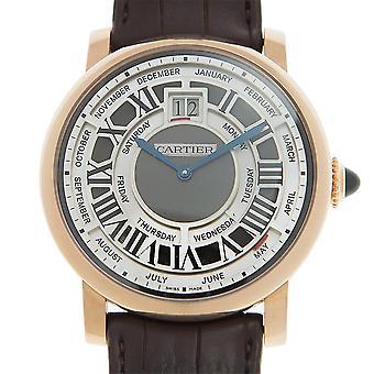 Cartier Rotonde de Cartier Annual Calendar Complication 18 kt Rose Gold Men's Watch W1580001