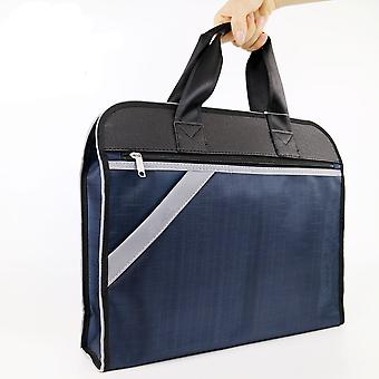 Men's Business Briefcase Oxford Double Sleeve Tote A4 File Pack Simple Notebook Bag