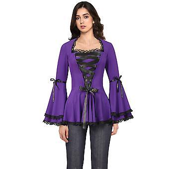 Chic Star Korsetti nauha pitsi top violetti
