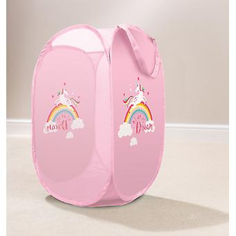 Country Club Kids Pop Up Laundry Basket, Unicorn