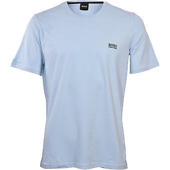 T-shirt boss luxe jersey girocollo, blu pastello