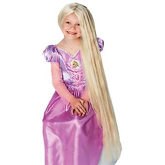 Filles Disney Rapunzel Wig Glow In The Dark Princess Fancy Dress Accessoire