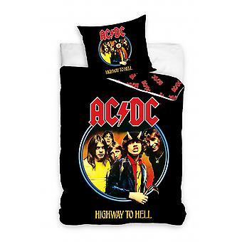 cover AC/DC junior 140 x 200 cm cotton black