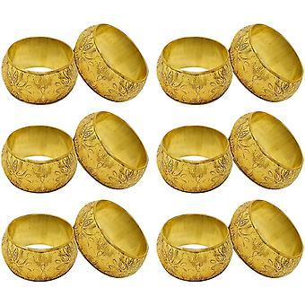 HanFei Serviettenring 12 stuck Set fr Valentinstag, Feiertage, Esstisch Dekoration Handgemacht Metall