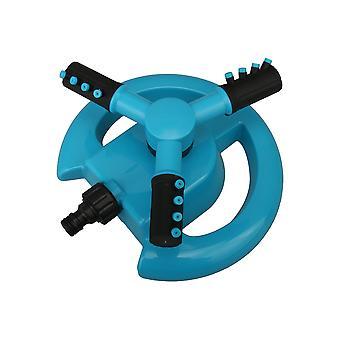Blue 3 Arm Rotating Sprinkler Irrigation Coverage Sprinkler for Lawn
