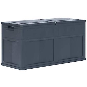 vidaXL Puutarha Säilytyslaatikko 320 L Musta