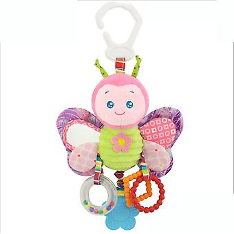 Butterfly Rattling Doll Cute Baby Hanging Toys With Teether Sound Paper Mirror Bb Device Bell For Children Soft Plush Rattle Toys