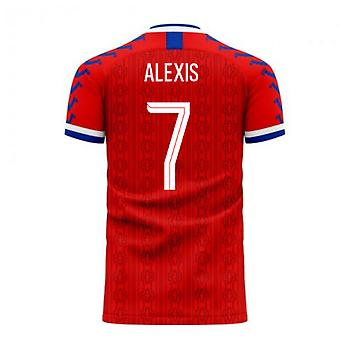 Chile 2020-2021 Home Concept Football Kit (Viper) (ALEXIS 7)