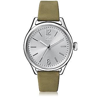 Ice-Watch - ICE time Khaki Silver - Naisten vihreä kello nahkahihnalla - 013057 (Medium)