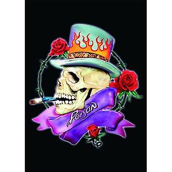 Poison - Skull Postcard