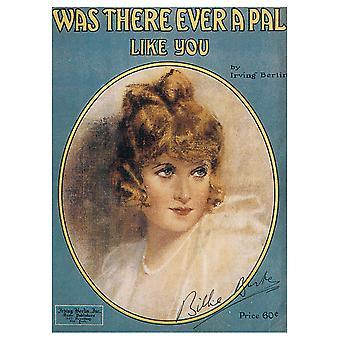 Vintage Musik Cover var der nogensinde en kammerat som dig - lærred print, Wall Art Decor