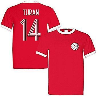 Arda turan 14 turkey legend ringer retro t-shirt red/white