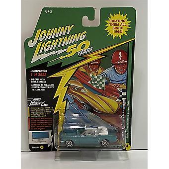 1964 Ford Mustang Convertible Dynasty Green 1:64 Johnny Lightning JLCG020A