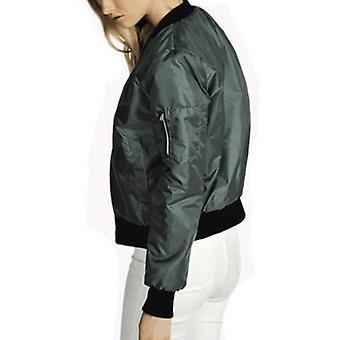أزياء جديدة المرأة الكلاسيكية مبطن سترة قصيرة مبطن معطف سترة مفجر