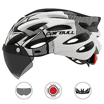 Ultralight Cycling Safety Helmet Outdoor Motorcycle Bicycle Taillight Helmet Removable Lens Visor Mountain Road