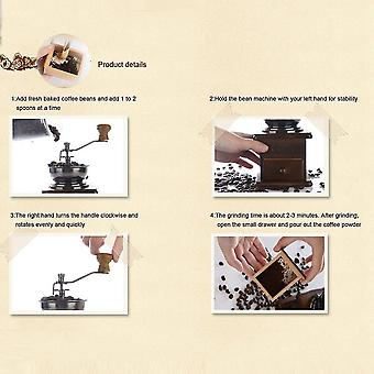 Kaffeemühle Kaffeemaschine Baufmühle antike Aussehen Holzbasis