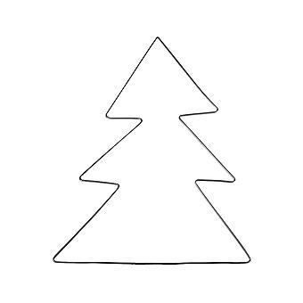 Wire kerstboom te versieren 23 x 28cm - volwassenen ambachten