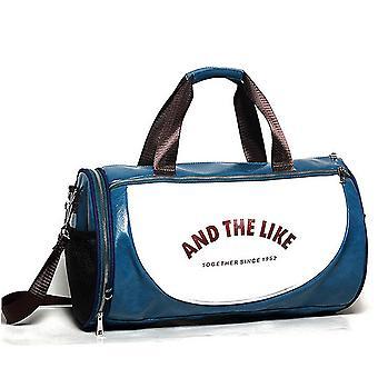 PU Leather Gym Bag Big Sports Bags Handbags For Fitness Men Women Training Shoulder Shoes Travel Sac