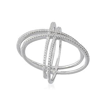 Ring 'Double Atom' Silver 925
