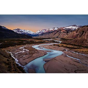 Tapetmaleri Mirador Rio De Las Vueltas Valley i Argentina