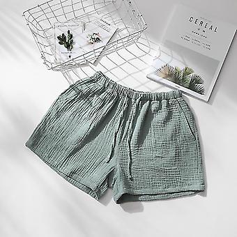 זוג קיץ שינה מכנסי כותנה קרפ בגדי לילה
