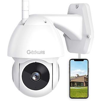 كاميرا الأمن في الهواء الطلق Goowls كاميرا الدوائر التلفزيونية المغلقة 360Â عرض ل1080P الأمن المنزلي PTZ IP66 للماء
