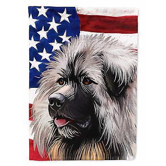 Flags windsocks carolines treasures ck6689gf sarplaninac dog american flag flag garden size