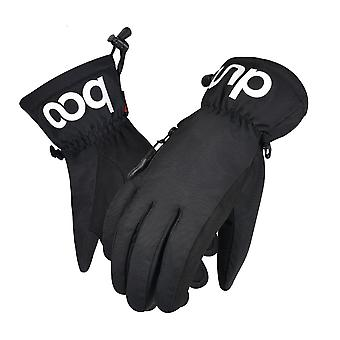 Zipper Ski Gloves Winter Waterproof Thickened Warm Outdoor Touch Screen Gloves
