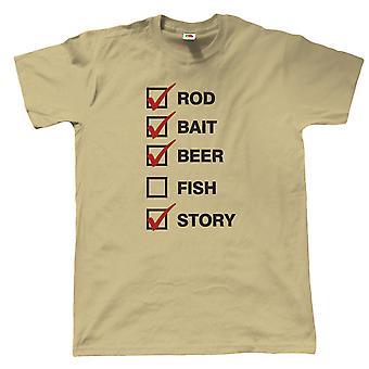 Rod Bait Bier Herren lustige Angeln T Shirt, Karpfen Fliegen Meer Angler Geschenk für ihn Papa