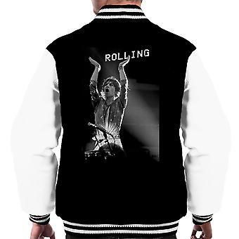 Die Rolling Stones Mick Jagger Rotterdam 1973 Männer Varsity Jacket