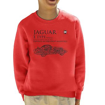Haynes Workshop Manual 0140 Jaguar E Type 6 Cyl Black Kid's Sweatshirt