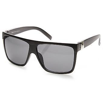 Stor Retro sort firkantet flad Top Aviator solbriller