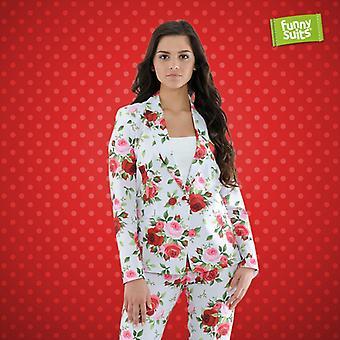 Rose suit ladies Senator Armin suit flower pattern 2-piece costume deluxe EU SIZES