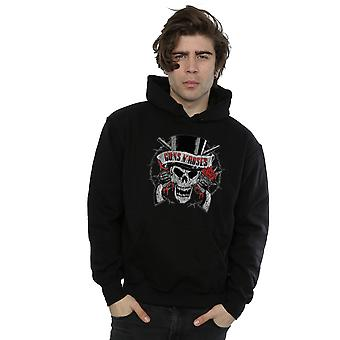 Guns N Roses Men's Distressed Death's Head Hoodie