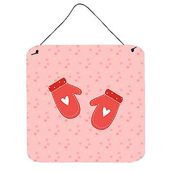 Carolines Treasures  BB7267DS66 Oven Mitts Pink Wall or Door Hanging Prints