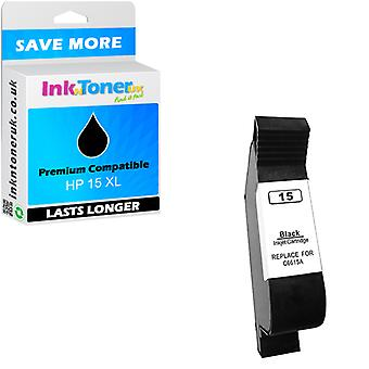 Compatible HP 15 Black C6615DE Ink Cartridge for Deskjet 3822