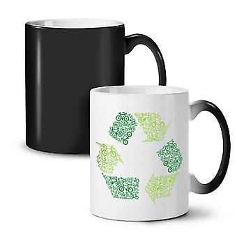 Green Art Eco Funny NEW Black Colour Changing Tea Coffee Ceramic Mug 11 oz | Wellcoda
