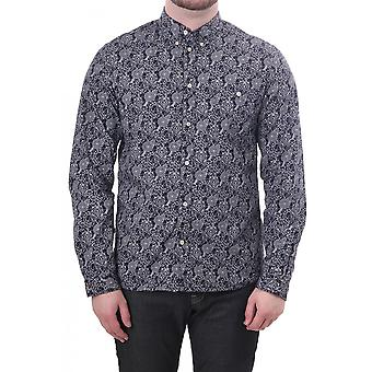 Paul Smith Jeans Mens Ls Tailored Fit Abstract Pattern Shirt