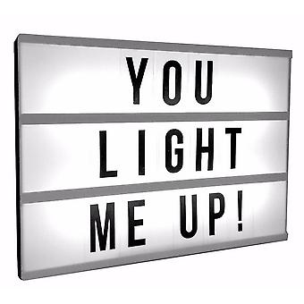 Light-Up Message Box With Slide-On Letters
