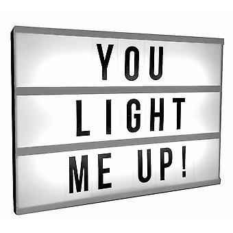 Light-Up caixa de mensagem com Slide-em letras