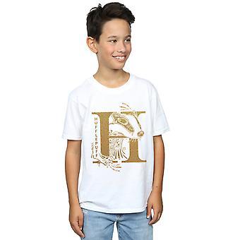 Harry Potter Boys Hufflepuff Glitter T-Shirt