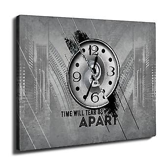 Clock Stylish Art Wall Art Canvas 40cm x 30cm | Wellcoda