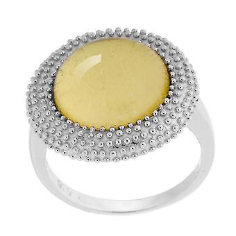 Orphelia srebro 925 pierścień złoty arkusz ZR-6041/2