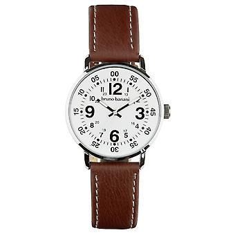 Bruno Banani relógio de pulso relógio de Moros de couro BR30011 analógico