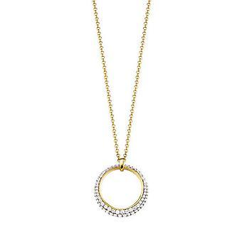 ESPRIT collection damer kedja halsband Silver guld Delia ELNL92698D420