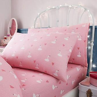 Princess Single Fitted Sheet And Pillowcase Set