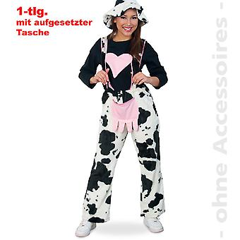 Cow pants costume ladies cows udder cow with heart Lady costume